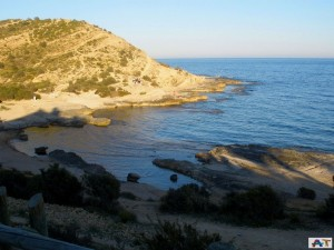 Cala Cantalar in Cabo de las Huertas -Car Hire Alicante