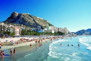 The beach of San Juan.Car hire Alicante